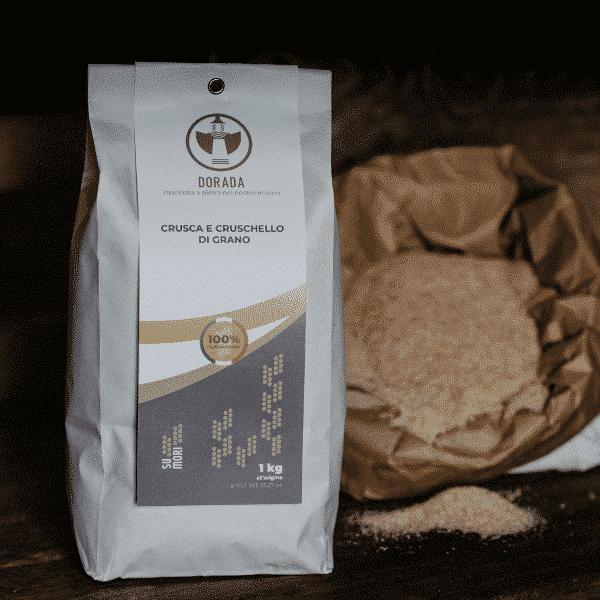 Crusca e cruschello di grano Dorada, 100% sarda, macinata a pietra