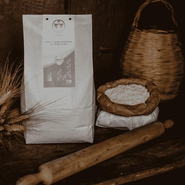 Fior di Farina integrale di grano duro, 100% sarda, macinata a pietra 5kg