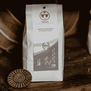Semola integrale di grano duro Senatore Cappelli Dorada, 100% sarda, macinata a pietra 1kg